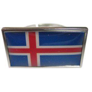 Iceland Flag Fashion Ring